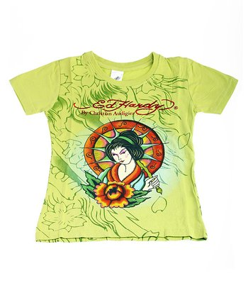 Lime Geisha Tee - Toddler & Girls