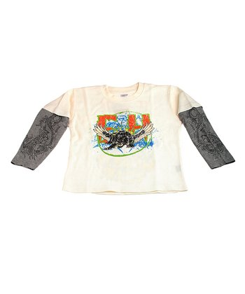 Off-White Wings Layered Tee - Toddler & Kids