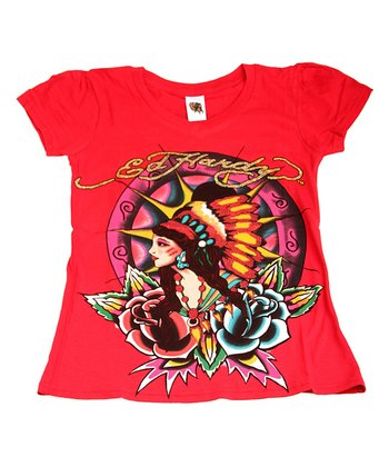 Red Chieftess Tee - Kids