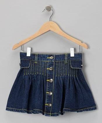 Medium Blue Wash Denim Skirt - Toddler & Girls