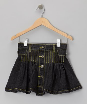 Black Denim Skirt - Toddler & Girls