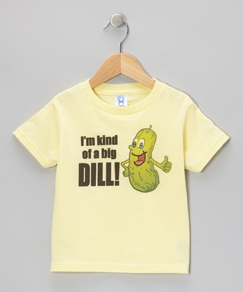 Lemon 'I'm Kind of a Big Dill' Tee - Toddler & Boys