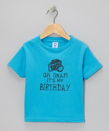 Blue 'Oh Snap! It's My Birthday' Tee - Toddler & Boys