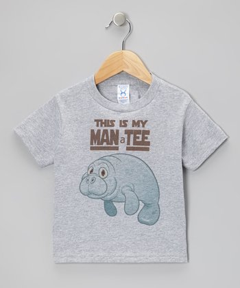 Gray 'This Is My Man a Tee' Tee - Toddler & Boys