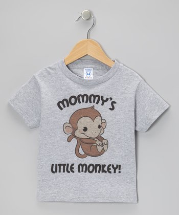 Gray 'Mommy's Little Monkey!' Tee - Toddler & Boys