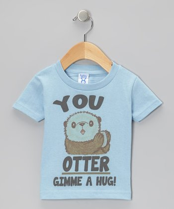 Blue 'You Otter Gimme A Hug!' Tee - Toddler & Boys