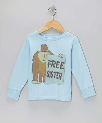 Blue 'Free Sister' Long-Sleeve Tee - Toddler & Boys