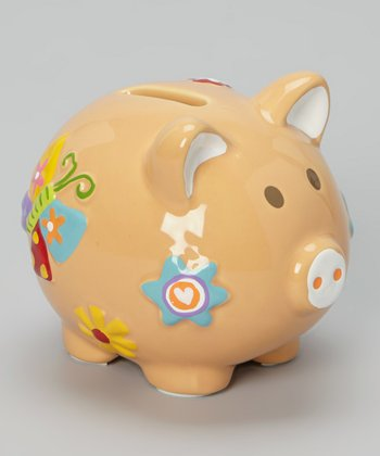 Yellow Flower Piggy Bank