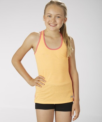 Orange Wow Racerback Tank