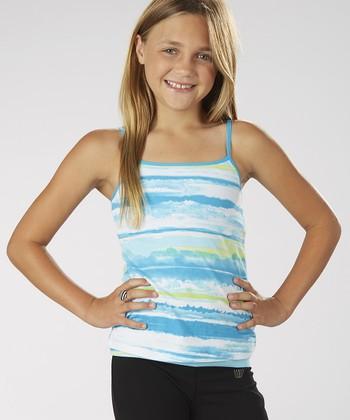 Hawaiian Ocean Tie-Dye Camisole - Girls