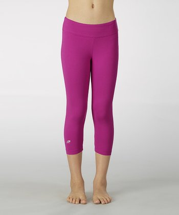 Neon Purple Sanded Dry Wik Leggings