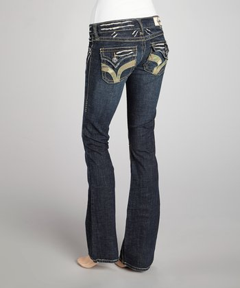 Indigo Seal Beach Camo Pocket Bootcut Jeans