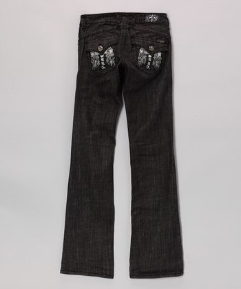 Black Long Beach Bootcut Jeans