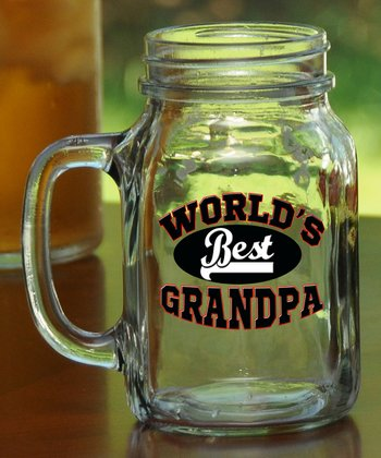 'World's Best Grandpa' Mason Mug