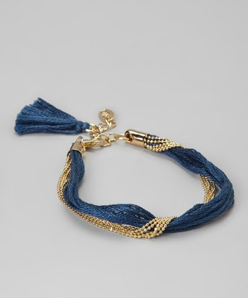 Turkish Blue Gold Provence Bracelet