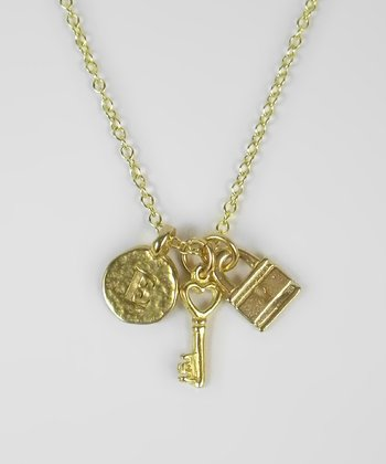Key2Me Gold Commitment to Me 'E' Necklace