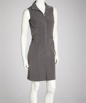 Charcoal Zipper Dress