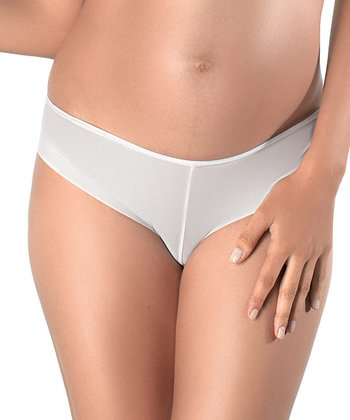 White 3-D Light Maternity Briefs