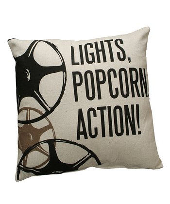 'Lights, Popcorn' Throw Pillow
