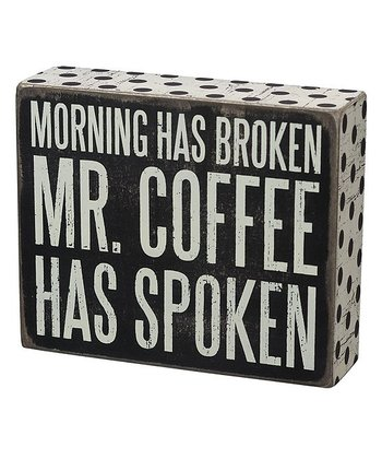 'Mr. Coffee' Box Sign