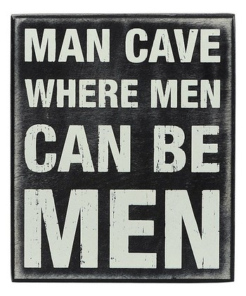 'Man Cave' Box Sign