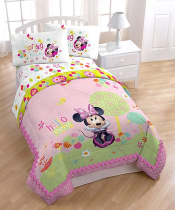 Pink Minnie Garden Party Sheets Set