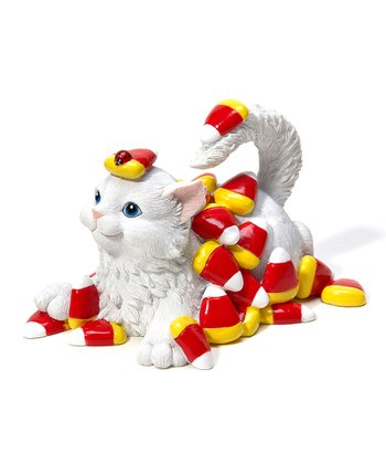 Candy Corn Cat Figurine