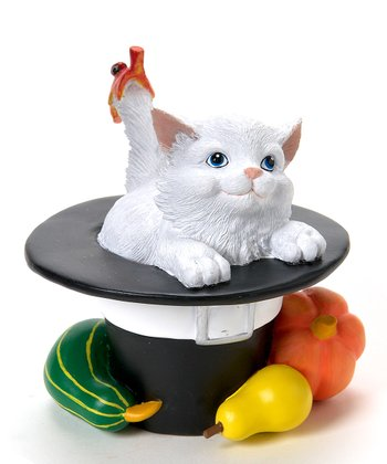 Pilgrim Hat Cat Figurine