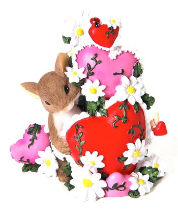 Heart Garden Mouse Figurine