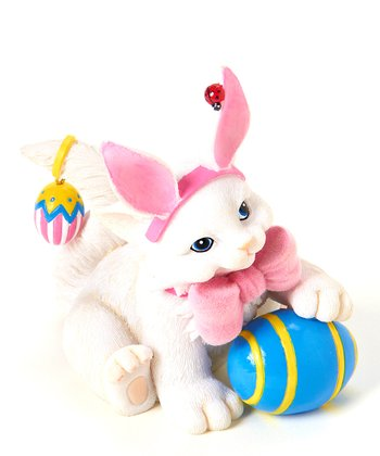 Easter Bunny Cat Figurine
