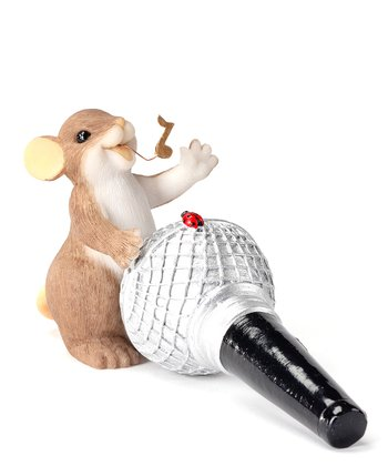 Microphone Mouse Figurine