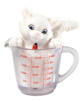 Measuring Cup Cat Figurine