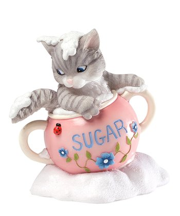 Bowl of Sugar Cat Figurine