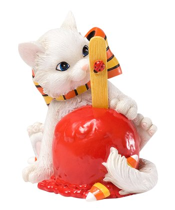 Candy Apple Cat Figurine
