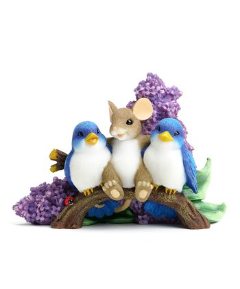 Bluebird Buddies Mouse Figurine