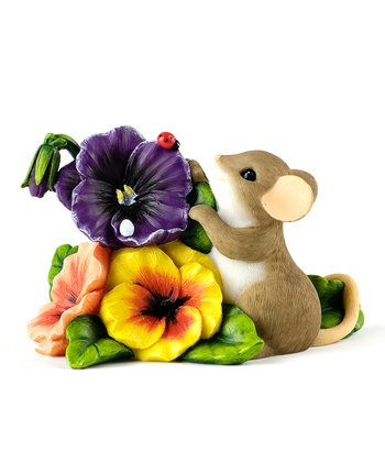 Pansy Patch Mouse Figurine