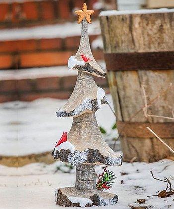 Snowfall Tree Figurine