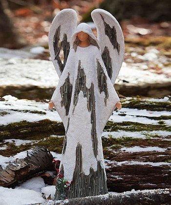 Frosted Forest Angel Figurine