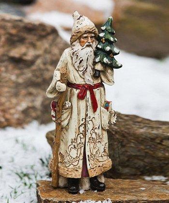 Evergreen Santa Figurine