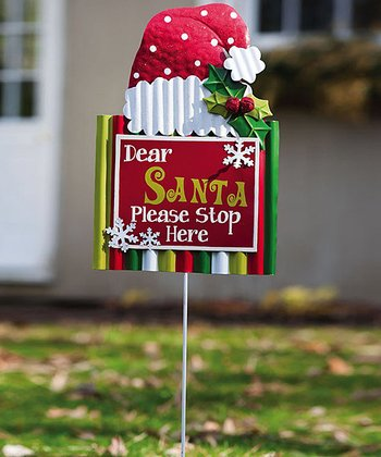 'Dear Santa' Garden Stake