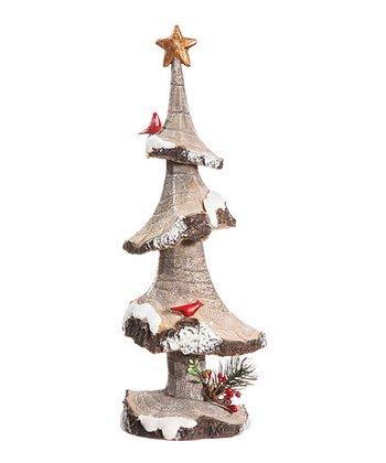 Snowfall Tree & Birds Figurine