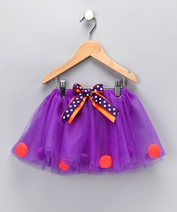 Cutie Pa Tutus Purple & Orange Tutu - Infant, Toddler & Girls
