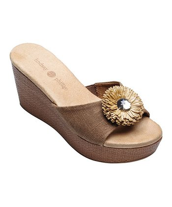 Light Brown Devon Wedge Slide