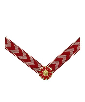 Deep Red Chevron Straps