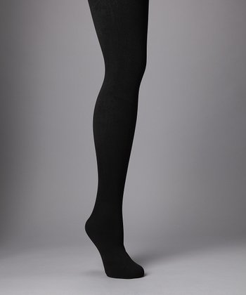 Black Winter Fleece Tights