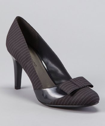 Gray Stripe Talia Pump