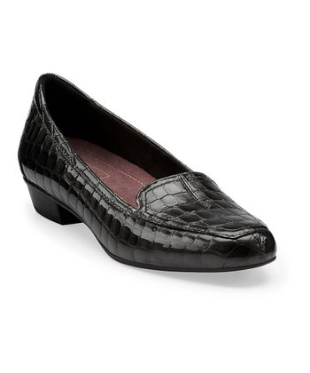 Gray Crocodile Timeless Slip-On Shoe - Women