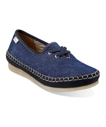 Navy Faraway Beach Lace-Up Shoe - Women