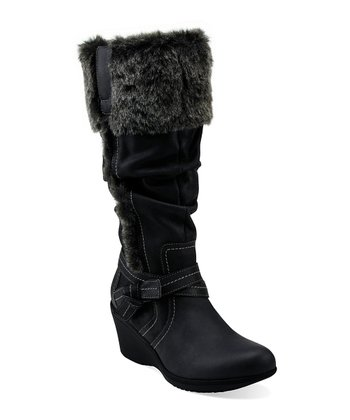 Black Saddle Ride Boot - Women