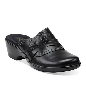 Black April Lotus Mule - Women